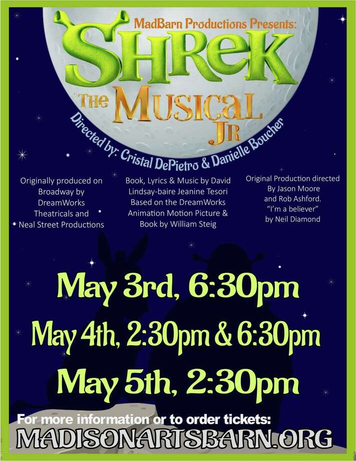 "Madison Arts Barn will stage ""Shrek the Musical Jr."" May 3-5, 2019, featuring local young people in the cast. Photo: Contributed Photo"