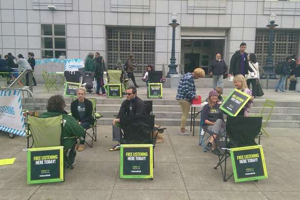 Sidewalk Talk hosts listening sessions multiple times a month across San Francisco.