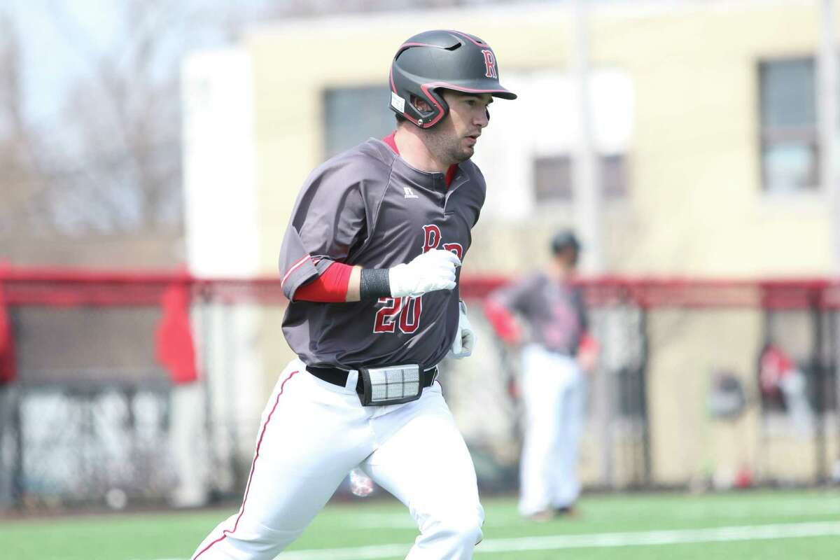 """RPI baseball player Cole Paquin, shown in a game during his freshman season, said losing a second season to the coronavirus """"would kind of be heartbreaking."""" (RPI Athletics)"""