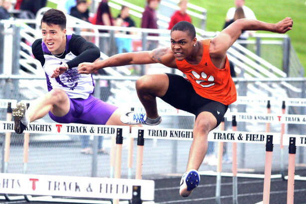 Xavier McKenney runs his way to a county championship in the 110-meter hurdles.