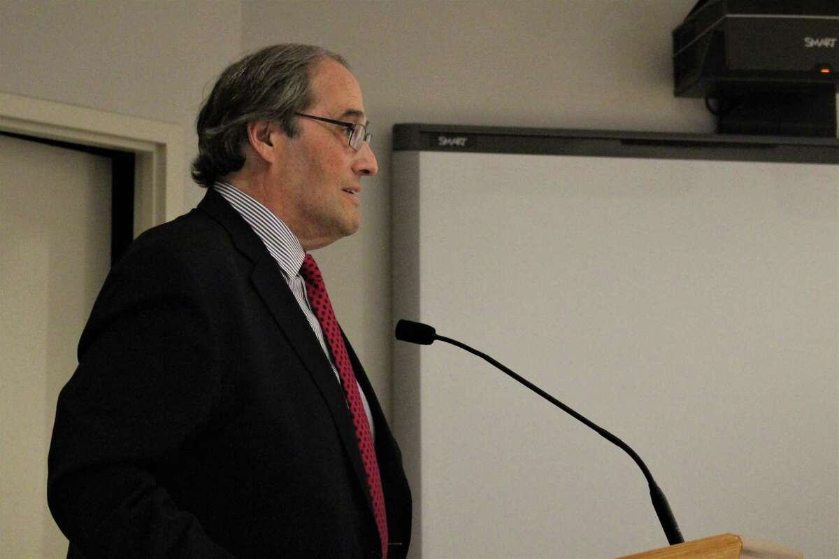 Henry Dachowitz, Norwalk's new chief financial officer, was introduced to the Common Council on Tuesday, April, 23, 2019.