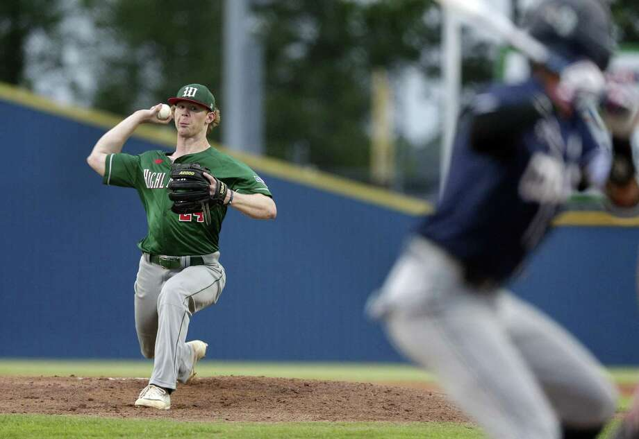 The Woodlands Will Swope (24) throws against Klein Collins during the third inning of their baseball game Tuesday, Apr. 23, 2019 in Spring, TX. Photo: Michael Wyke, Houston Chronicle / Contributor / © 2019 Houston Chronicle