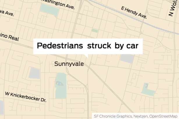 """Sunnyvale police said they are investigating a """"major"""" incident in which a car struck several pedestrians Tuesday night."""
