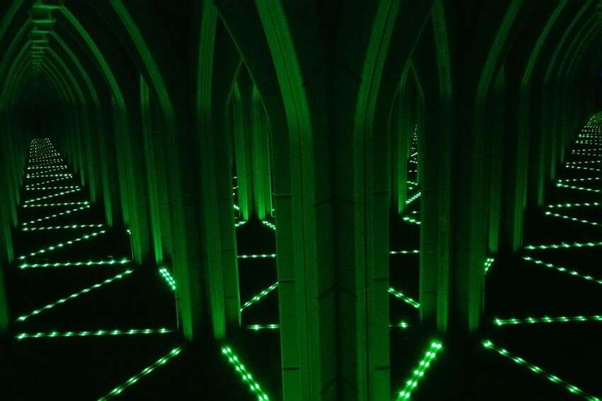 Find your way out of the dreary weather, into the Amazing Mirror Maze, and through the mirrors and lasers that fill this Alamo Plaza attraction. The Mirror Maze (217 Alamo Plaza) offers plenty of dead ends to work around, pus