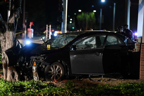 The scene of car crash on El Camino Real and Sunnyvale Saratoga Roads in Sunnyvale, which police say struck several pedestrians April 23, 2019.