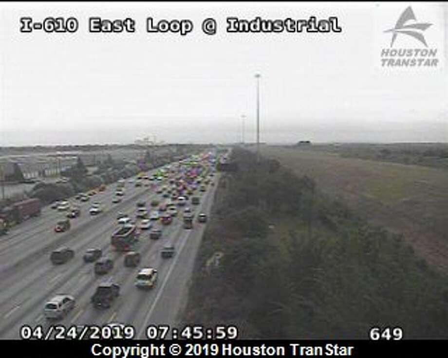 Emergency repairs are slowing northbound traffic on the East Loop near Market. >> Keep clicking through this gallery to see the worst traffic spots around Houston. Photo: Houston TranStar