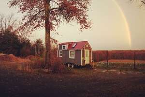 The tiny home owned by James Southworth and Julia Waite offers only 200 square feet of living space.