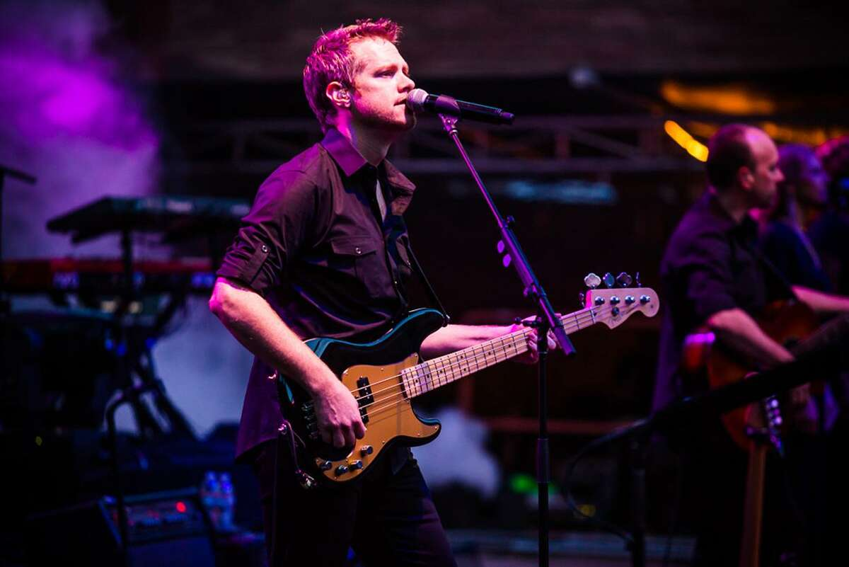 Bass player Ian Cattell of Brit Floyd Live.