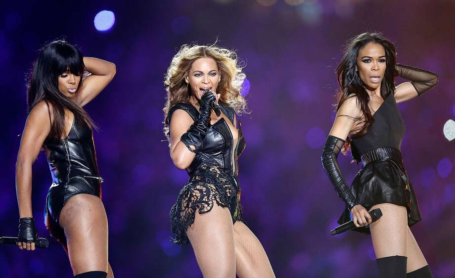 Kelly Rowland, Beyonce and Michelle Williams perform during the Pepsi Super Bowl XLVII Halftime Show at the Mercedes-Benz Superdome on February 3, 2013 in New Orleans, Louisiana. Photo: Ezra Shaw, Getty Images
