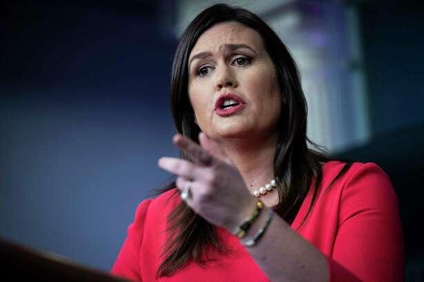 White House press secretary Sarah Sanders on Jan. 28.