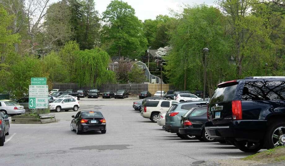 The Baldwin Parking Lot on Elm Street in Westport. Photo: Paul Schott / ST / Westport News