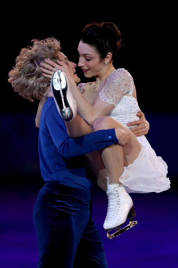 Meryl Davis and Charlie White of United States during the Figure Skating Exhibition Gala on Day 15 of the Sochi 2014 Winter Olympics at Iceberg Skating Palace on February 22, 2014 in Sochi, Russia. (Photo by Matthew Stockman/Getty Images)
