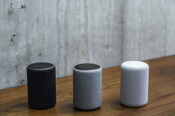 Amazon Echo Plus smart speakers are powered by the Alexa voice assistant.