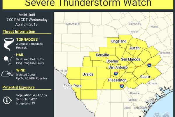 Nws Quarter Sized Hail Reported Near Kerrville San