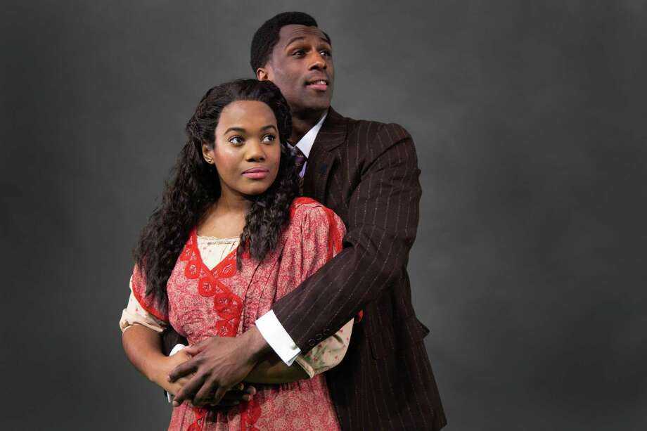 "Danyel Fulton as ""Sarah"" and Ezekiel Andrew as ""Coalhouse Walker, Jr. in the Theatre Under The Stars premiere of Ragtime, April 16 through 28 at the Hobby Center Photo: Laura Hagen"