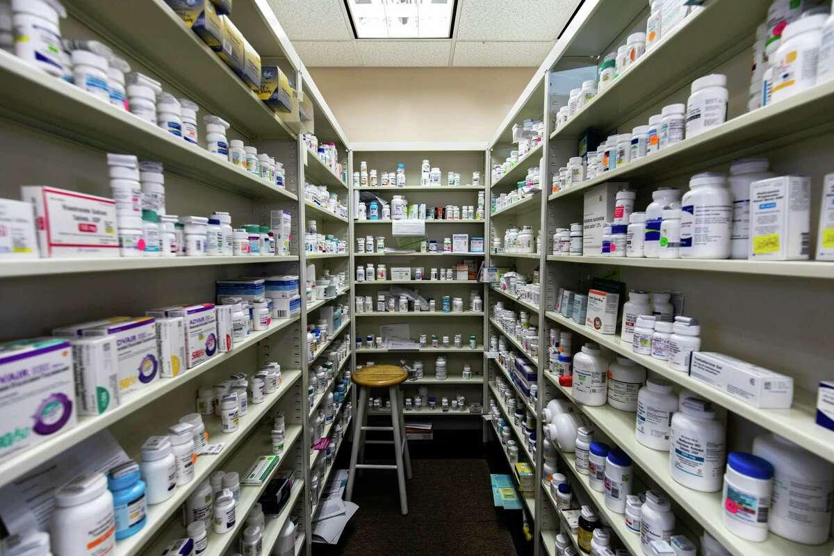 Prescription drugs at Beacon Falls Pharmacy.