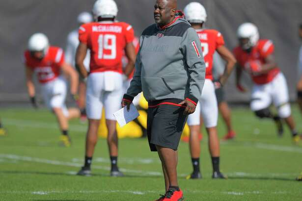 Maryland coach Michael Locksley, shown at practice earlier this month.
