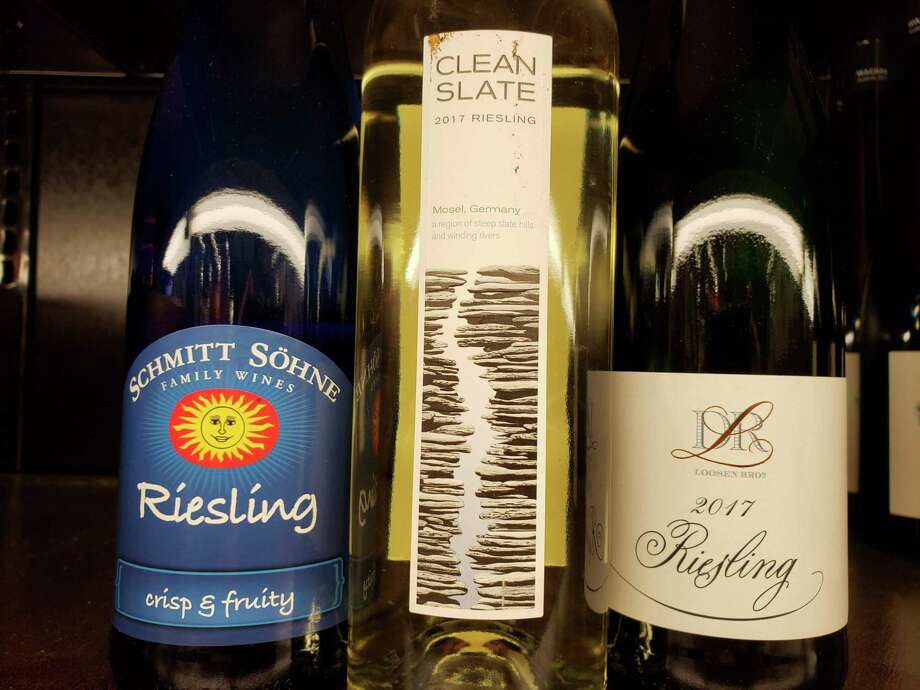 A trio of delicious everyday Rieslings. Photo: Frank Whitman / For Hearst Connecticut Media / Norwalk Hour freelance
