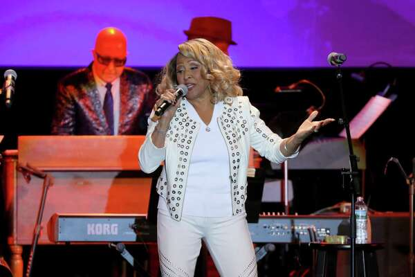 Darlene Love performs onstage during the Little Kids Rock Benefit 2017 at PlayStation Theater on Oct. 18, 2017, in New York City, along with Paul Paul Shaffer in the background. Love and Shaffer will be joined be fello music star Valerie Simpson for a performance in Stamford, Connecticut, on April 28, 2018. (Photo by Cindy Ord/Getty Images for Little Kids Rock)