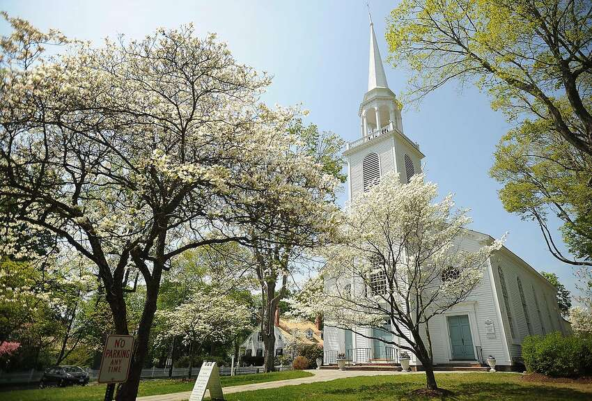 The dogwoods are in full flower outside the Greenfield Hill Congregational Church in the Greenfield Hill section of Fairfield for this year's Dogwood Festival, which will run Friday to Sunday. Find out more.