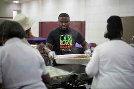 Parishioners gather for Easter Sunday breakfast at Mount Moriah Missionary Baptist Church in North Charleston, South Carolina on April 21, 2019.