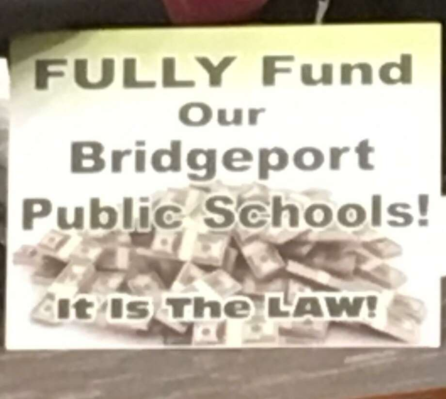 The April 23, 2019 City Council hearing on the Bridgeport School budget. Photo: Linda Conner Lambeck
