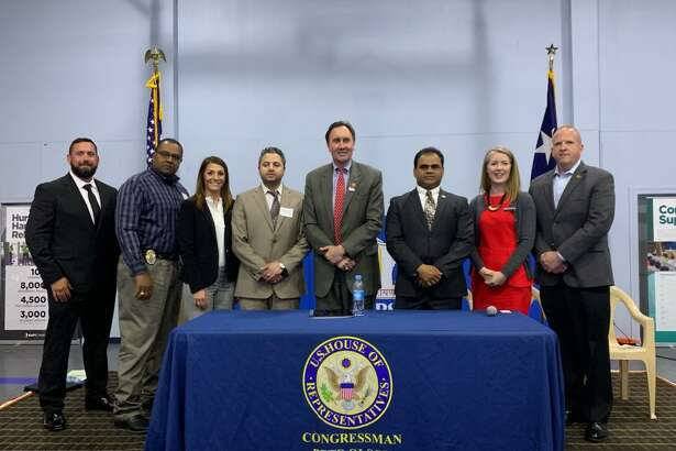 Elected officials, law enforcement and community leaders took part in a bi-partisan human trafficking summit at BAPS Shri SwaminarayanTuesday evening in Stafford, Texas.