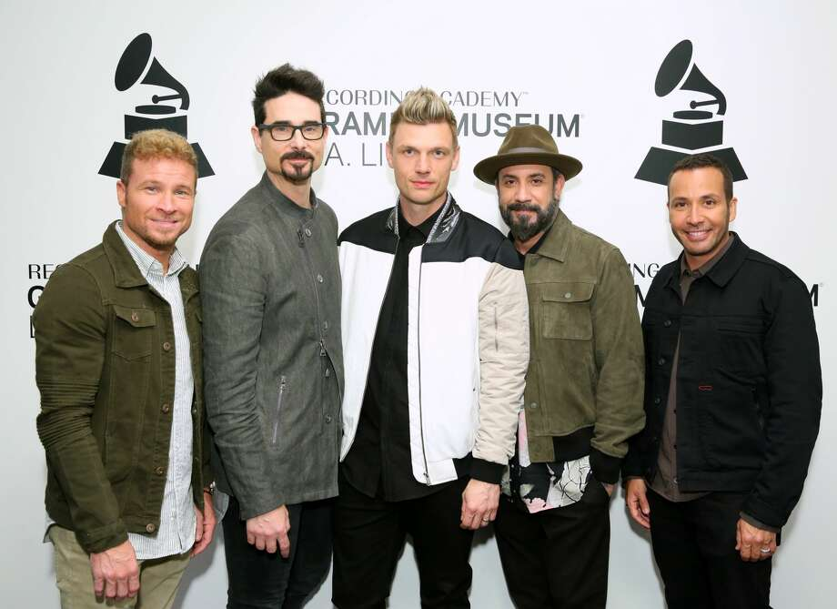 Brian Littrell, Kevin Richardson, Nick Carter, A.J. McLean and Howie Dorough of the Backstreet Boys attend An Evening With Backstreet Boys at the GRAMMY Museum on April 08, 2019 in Los Angeles, California. Photo: Rebecca Sapp/WireImage