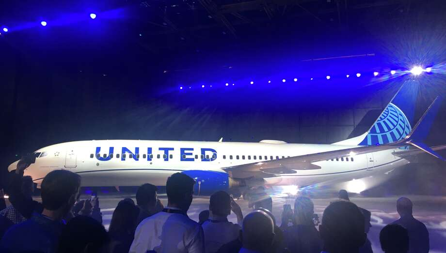 United Airlines revealed its new look at an event in Chicago in April 2019 Photo: Tim Jue