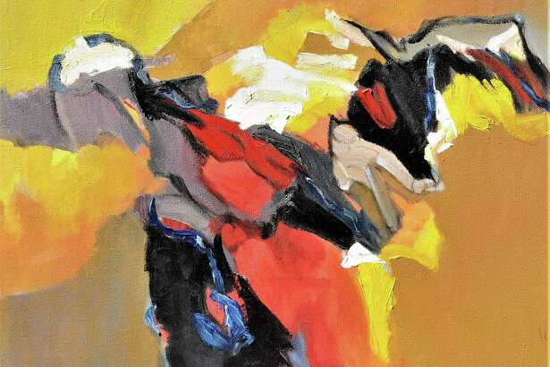 """Thu Tran's """"Autumn Orange"""" is featured in """"Intensity"""" at the Kershner Gallery at the Fairfield Library May 11-June 23."""