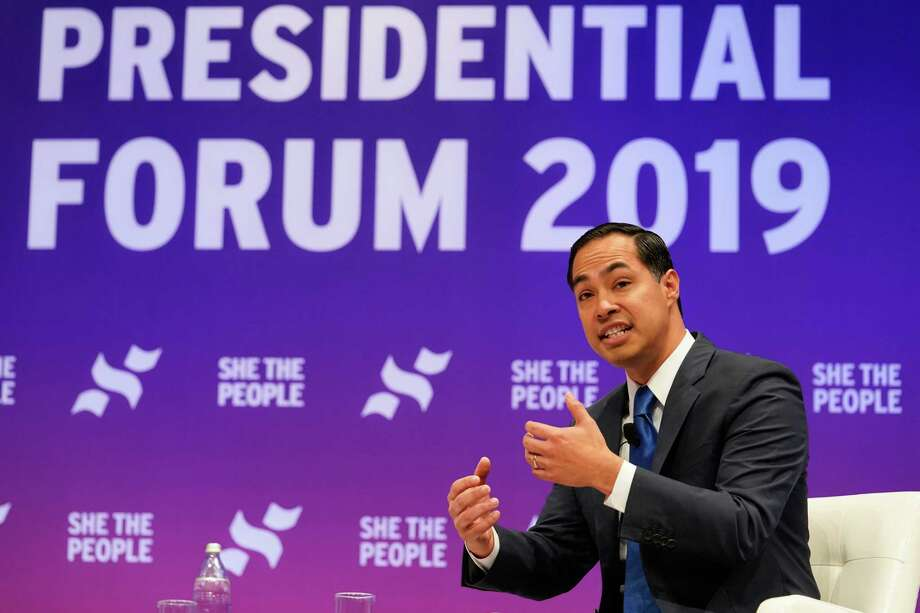 Former HUD Secretary Julián Castro, speaks during the presidential candidate forum sponsored by She the People at Texas Southern University Wednesday, April 25, 2019. Photo: Melissa Phillip, Houston Chronicle / Houston Chronicle