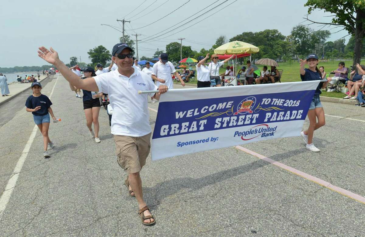 File photo showing the 2018 Barnum Festival Great Street Parade through Seaside Park in Bridgeport Conn. on Sunday July 1, 2018.