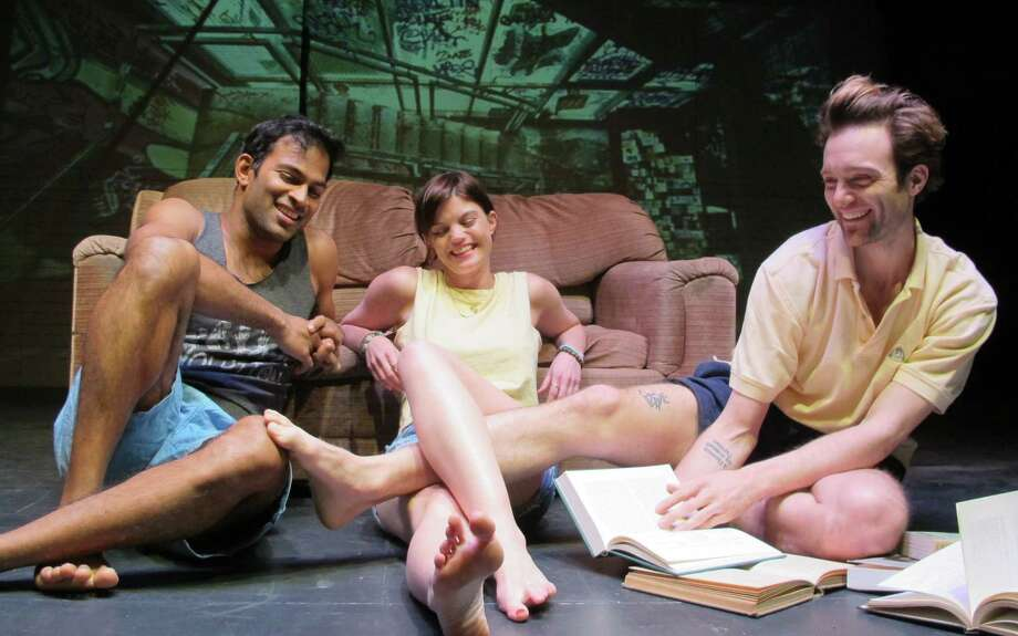 """From left,Shivantha Singer Sara Parcesepe and Christopher Joel Onken in the world premiere of """"The Letters"""" at Bridge Street Theatre in Catskill. (BST publicity photo by John Sowle.) Photo: John Sowle, Bridge Street Theatre"""