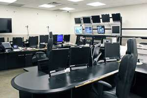 A ready-made dispatch center at the former General Electric headquarters on Easton Turnpike could possibly become the combined emergency dispatch for Fairfield and Westport. The property is now owned by Sacred Heart University.