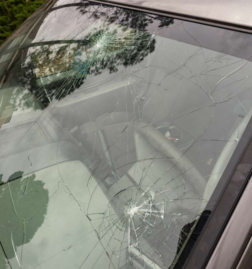 Damage from hail and heavy rain Tuesday night around Midland broke windshields and damaged roofs. 04/24/19  Tim Fischer/Reporter-Telegram Photo: Tim Fischer/Midland Reporter-Telegram