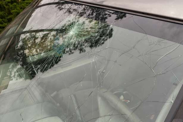 Damage from hail and heavy rain Tuesday night around Midland broke windshields and damaged roofs. 04/24/19 Tim Fischer/Reporter-Telegram