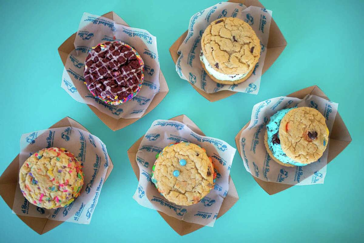 A selection of ice cream sandwiches from California-based The Baked Bear, which will open a San Antonio location this summer.