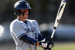 Yale's Simon Whiteman prepares to bat during a game against Fairfield on April 3.