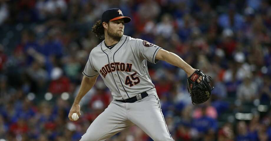 PHOTOS: Astros game-by-game Houston Astros starting pitcher Gerrit Cole delivers against the Texas Rangers during the third inning of a baseball game Saturday, April 20, 2019, in Arlington, Texas. (AP Photo/Mike Stone) Browse through the photos to see how the Astros have fared in each game this season. Photo: Mike Stone/Associated Press