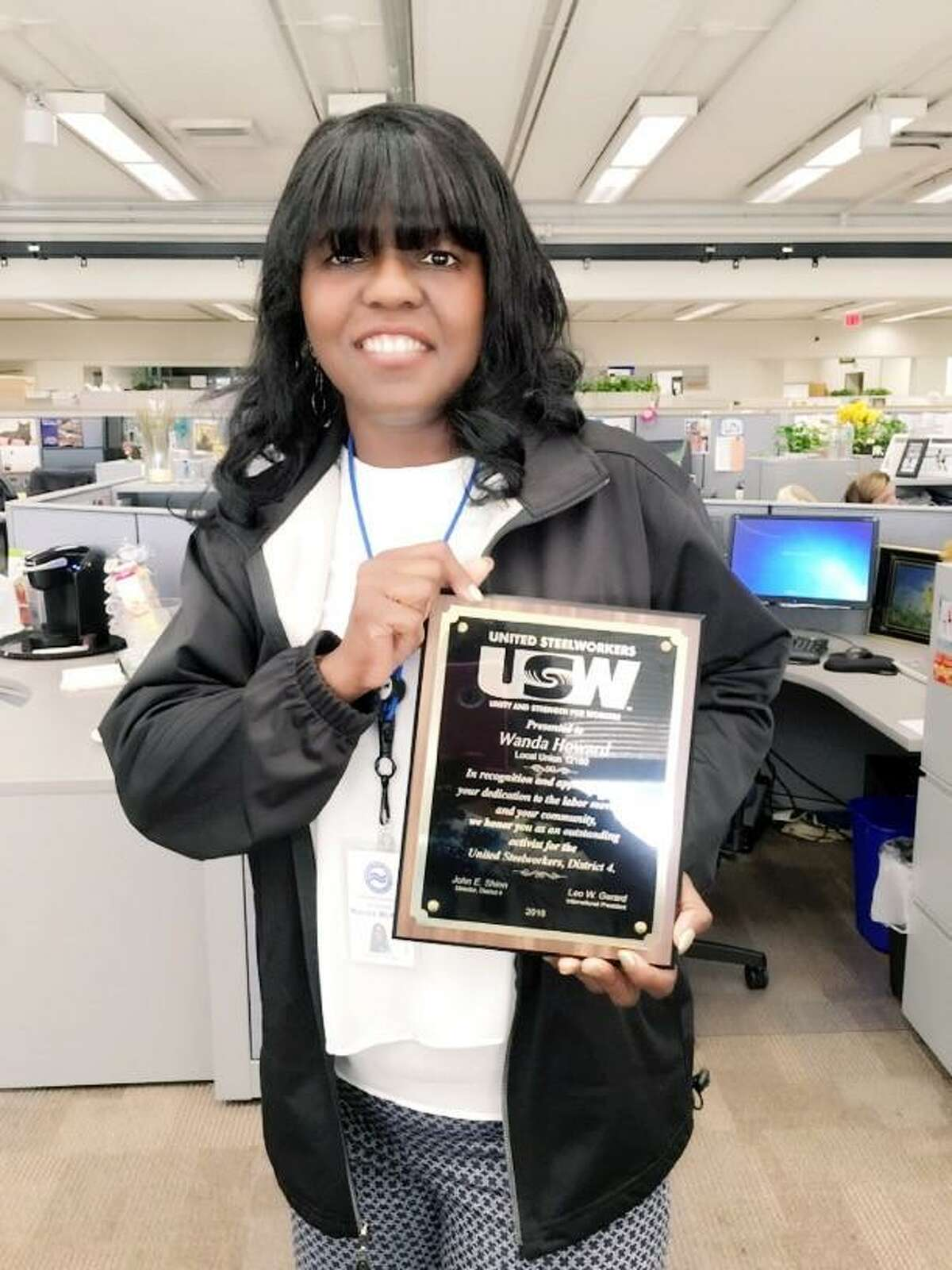Wanda Howard, president of United Steelworkers Local 12160, is a senior customer service representative at the South Central Regional Water Authority in New Haven, where 126 employees have been working under an expired contract for a year.