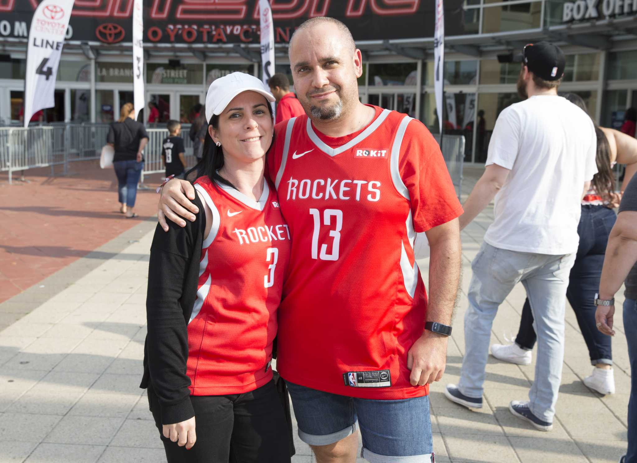 220d9a05ce1 Rockets fans pour into Toyota Center for Game 5 against Jazz - Houston  Chronicle