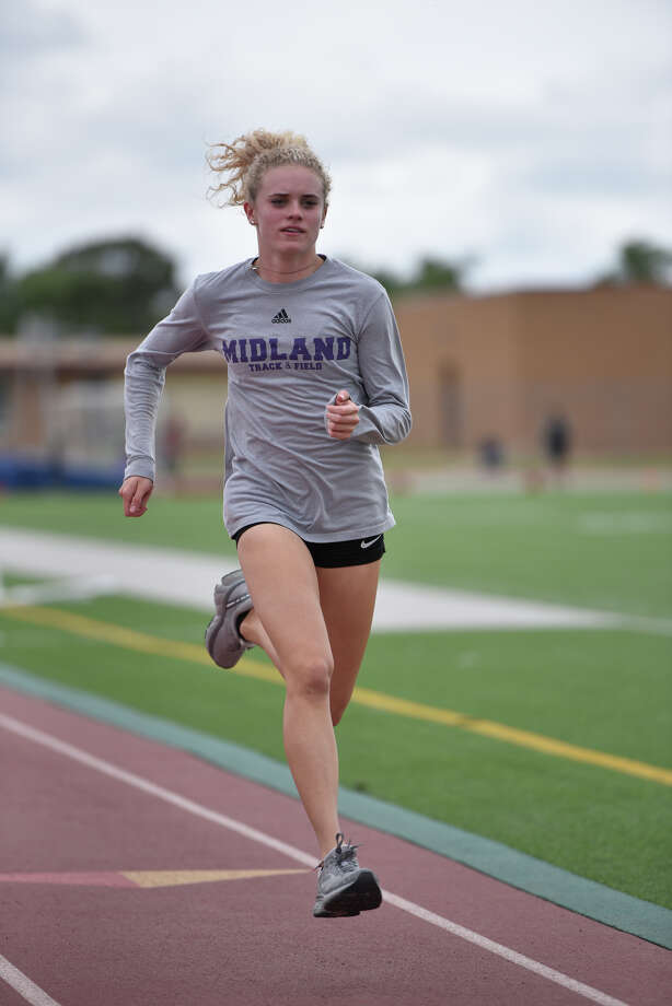 Midland High senior Emma Simmons is a qualifier for the 400 meters in the Region I-6A Track Meet. Photographed April 24, 2019, at Memorial Stadium. James Durbin/Reporter-Telegram Photo: James Durbin / Midland Reporter-Telegram / ? 2019 All Rights Reserved