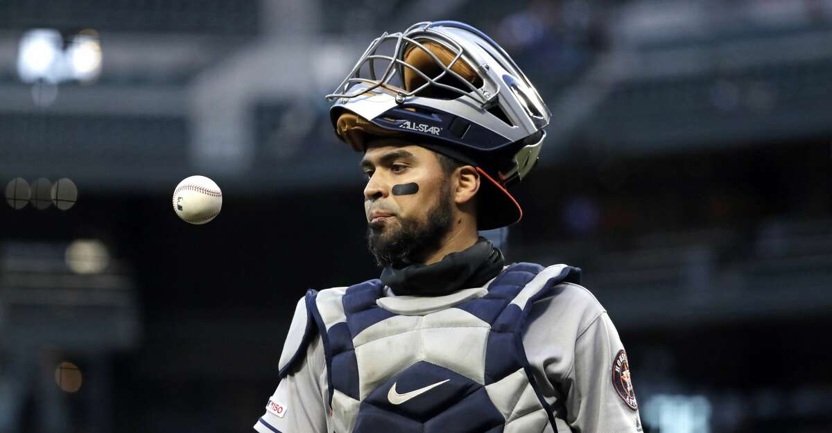 PHOTOS: Astros game-by-game Houston Astros catcher Robinson Chirinos pops a ball up as he walks off the field against the Seattle Mariners in a baseball game Saturday, April 13, 2019, in Seattle. (AP Photo/Elaine Thompson) Browse through the photos to see how the Astros have fared in each game this season.