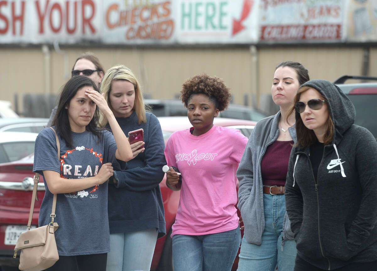 Protesters gather outside of the Huntsville Unit where John William King is scheduled to be executed Wednesday. Photo taken Wednesday, April 24, 2019 Kim Brent/The Enterprise