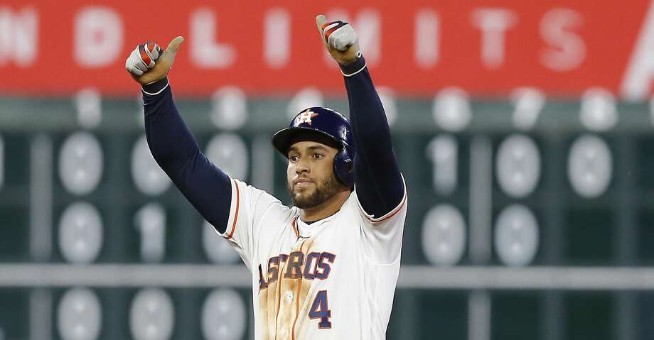 PHOTOS: Astros game-by-game George Springer #4 of the Houston Astros doubles in a run in the fifth inning against the Minnesota Twins at Minute Maid Park on April 23, 2019 in Houston, Texas. (Photo by Bob Levey/Getty Images) Browse through the photos to see how the Astros have fared in each game this season. Photo: Bob Levey/Getty Images