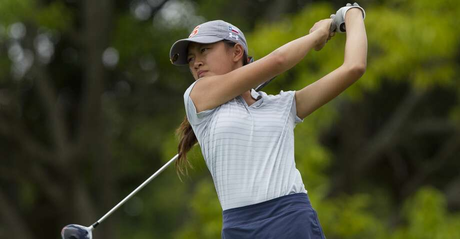 Lauren Nguyen of Seven Lakes hits off the 10th tee box during the final round of the Class 6A UIL State Golf Championships at Legacy Hills Golf Club, Tuesday, May 22, 2018, in Georgetown. Photo: Jason Fochtman/Houston Chronicle