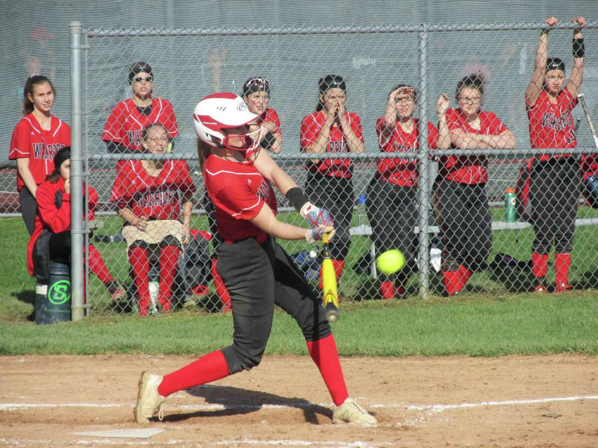 Savannah Wheeler kept Wamogo tied with Northwestern through five innings with a pair of home runs before the Warriors finally ran out of hits against the Berkshire League's defending league champion Highlanders on Wednesday, April 24, 2019 in Litchfield, Conn.