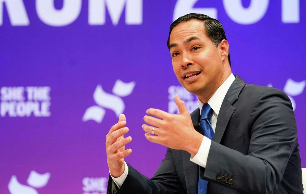 Former HUD Secretary Julián Castro, speaks during the presidential candidate forum sponsored by She the People at Texas Southern University Wednesday, April 25, 2019.