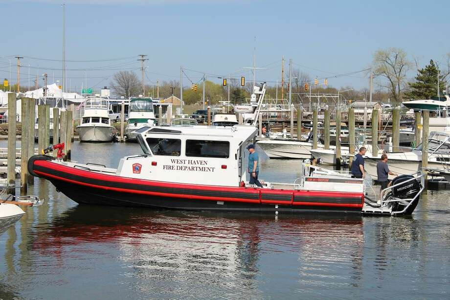 The West Haven Fire Department's rescue boat. Photo: Photo By Fire Chief James O'Brien /