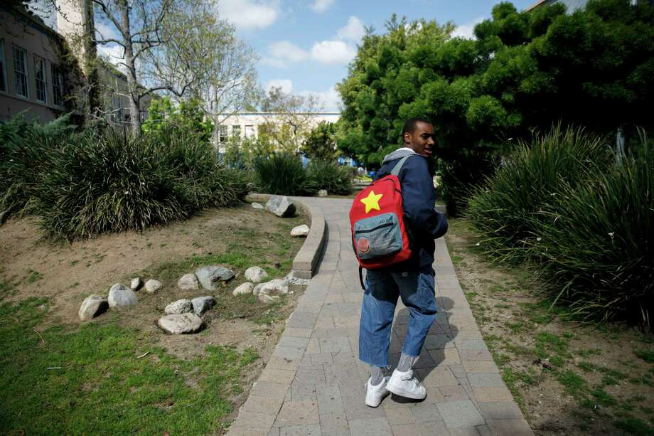 Asriel Hayes, 17, a senior at the Los Angeles Center for Enriched Studies, had his sights set on attending the University of Southern California's prestigious music school. Photo: Photo For The Washington Post By Patrick T. Fallon. / Patrick T. Fallon for The Washington Post